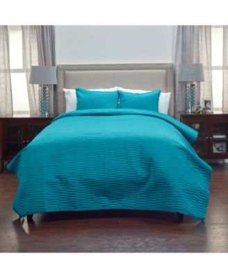 Riztex USA Parker Teal Queen 3 Piece Quilt Set