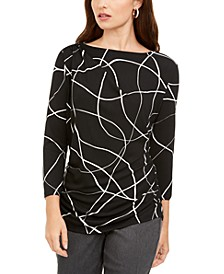 Printed Ruched Top, Created for Macy's