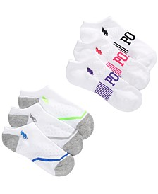 Polo Ralph Lauren Little & Big Girls 6-Pk. Low-Cut Socks