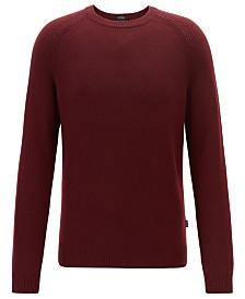 BOSS Men's Banilo Regular-Fit Crew-Neck Cashmere Sweater