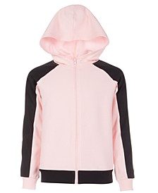 Big Girls Pieced Zip-Up Hoodie, Created For Macy's