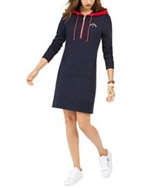 Tommy Hilfiger Zip-Front Hoodie Dress