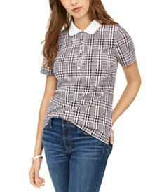Tommy Hilfiger Sport  Plaid Polo Shirt