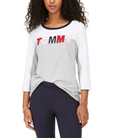 Tommy Hilfiger Colorblocked Graphic Top