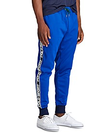 Men's Logo-Tape Fleece Track Pants