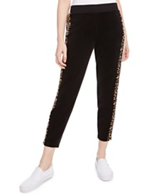 Juicy Couture Side-Stripe Velour Sweatpants