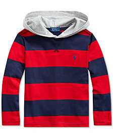 Polo Ralph Lauren Little Boys Jersey Stripe Hooded T-Shirt