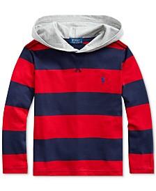 Polo Ralph Lauren Little Boys Jersey Stripe Hooded T-Shirt