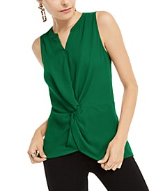 INC Sleeveless Twist-Front Top, Created for Macy's