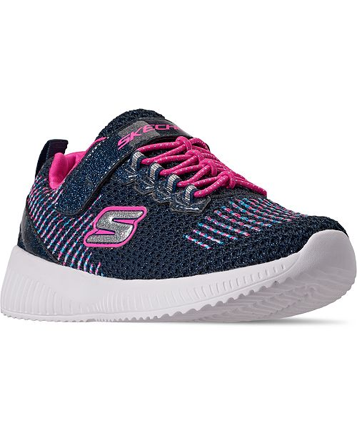Skechers Little Girls Squad Stay-Put Closure Athletic Sneakers from Finish Line
