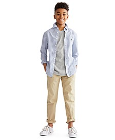 Big Boys Cotton Poplin Sport Shirt