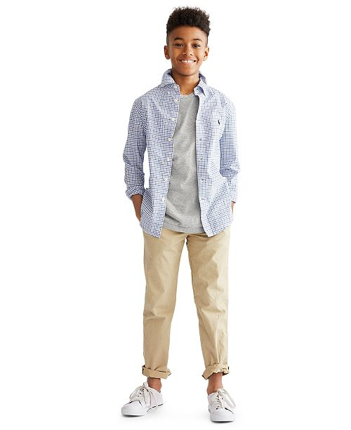 Polo Ralph Lauren Big Boys Cotton Poplin Sport Shirt
