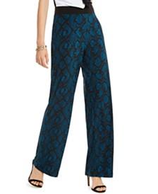 I.N.C. Python-Print Wide-Leg Pants, Created for Macy's