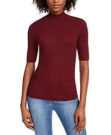 Ribbed Mock Neck Top, Created for Macy's