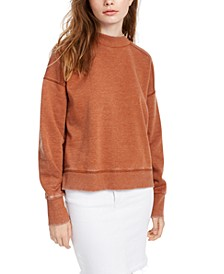 Juniors' Mock-Neck Sweatshirt