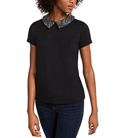 Contrast Collar Top, Created for Macy's
