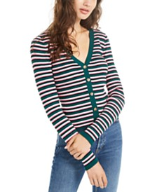 Ultra Flirt Juniors' Cropped Ribbed Cardigan Sweater