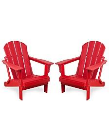 Westin Furniture Outdoor Adirondack Chair, Set of 2