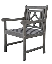 Renaissance Outdoor Patio Diamond Hand-Scraped Hardwood Dining Armchair