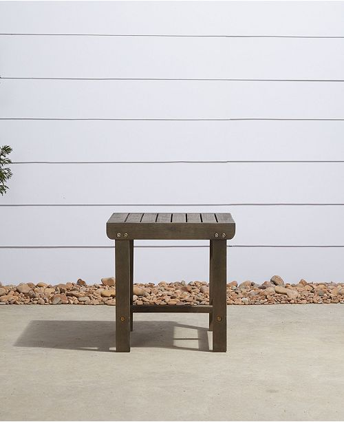 Wondrous Renaissance Outdoor Patio Wood Side Table Ocoug Best Dining Table And Chair Ideas Images Ocougorg