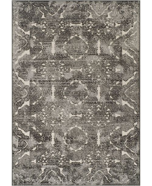 """D Style CLOSEOUT! Logan Lo4 Pewter 7'10"""" x 10'7"""" Area Rugs"""