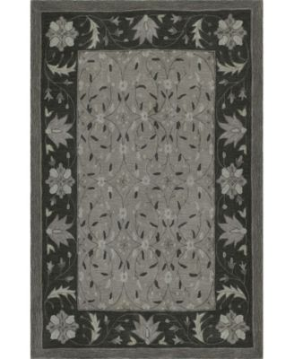 """CLOSEOUT! Torrey Tor1 Pewter 3'6"""" x 5'6"""" Area Rugs"""