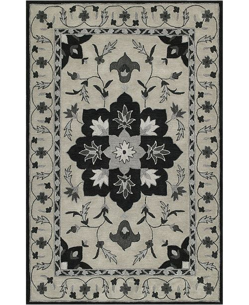 D Style CLOSEOUT! Torrey Tor4 Silver 5' X 7'6 Area Rugs