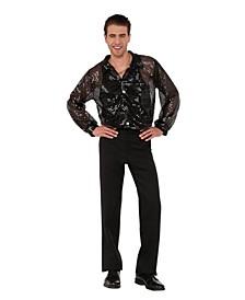 Men's Sequin Disco Shirt