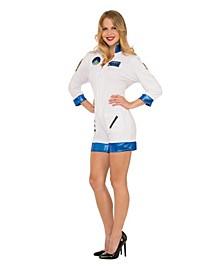 Women's Astronaut White Jumpsuit Adult Costume