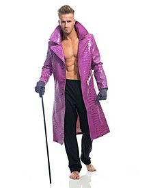 Men's Purple Faux Snakeskin Jacket Adult Costume, Toy Sword Not Included