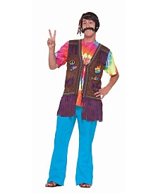 BuySeasons Men's Hippie Peace Vest Adult Costume Top