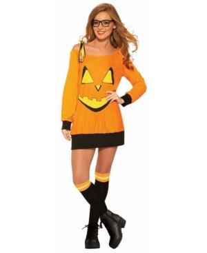 Women's Preppy Pumpkin Shirt and Socks Adult Costume