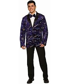 Men's Blue Velvet Men's Blazer And Bowtie Adult Costume