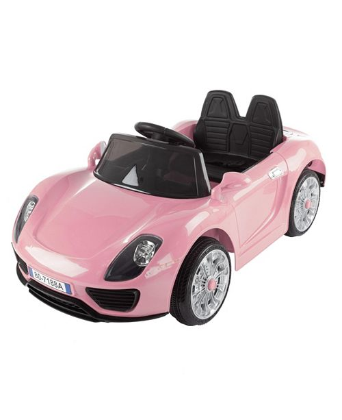 Lil' Rider Ride On Sports Car  Motorized Electric Rechargeable Battery Powered Toy with Remote Control, MP3 and USB, Lights and Sound by Lil Rider Pink