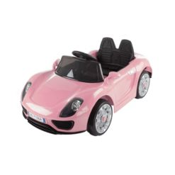 Ride On Sports Car Motorized Electric Rechargeable Battery Powered Toy with Remote Control, MP3 and Usb, Lights and Sound by Lil Rider Pink