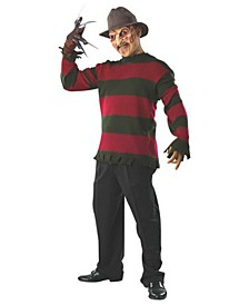 Men's Deluxe Freddy Sweater With Mask Adult Costume