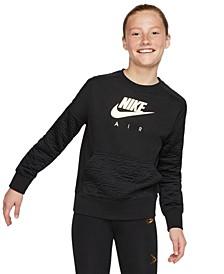 Big Girls Air Fleece Sweatshirt