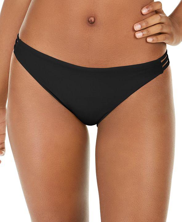 Roxy Juniors' Solid Beach Classics Strappy Bikini Bottoms