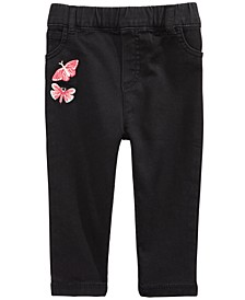 Baby Girls Embroidered Jeans, Created For Macy's