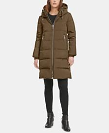 DKNY Petite Hooded Puffer Coat