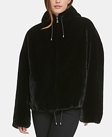 Hooded Faux-Fur Jacket