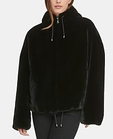 DKNY Hooded Faux-Fur Jacket