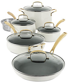 Belgique 11-Pc. White Cookware Set, Created for Macy's