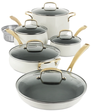 Belgique Aluminum 11-Pc. White Cookware Set, Created for Macy's
