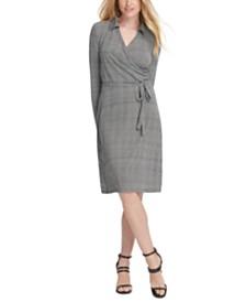 DKNY Tie-Front Wrap Dress