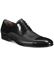 Men's Mixed-Leather Oxford Shoes