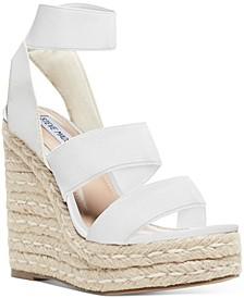 Women's Shimmy Platform Espadrille Wedge Sandals