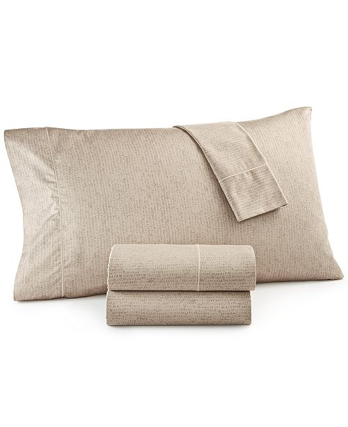 Hotel Collection CLOSEOUT! Linear Texture Queen Sheet Set, Created for Macy's