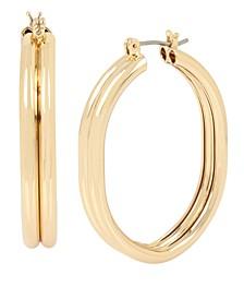 Oval Medium Hoop Earrings