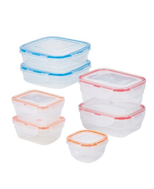 Lock n Lock Easy Essentials Color Mates Assorted 14-Pc. Food Storage Container Set